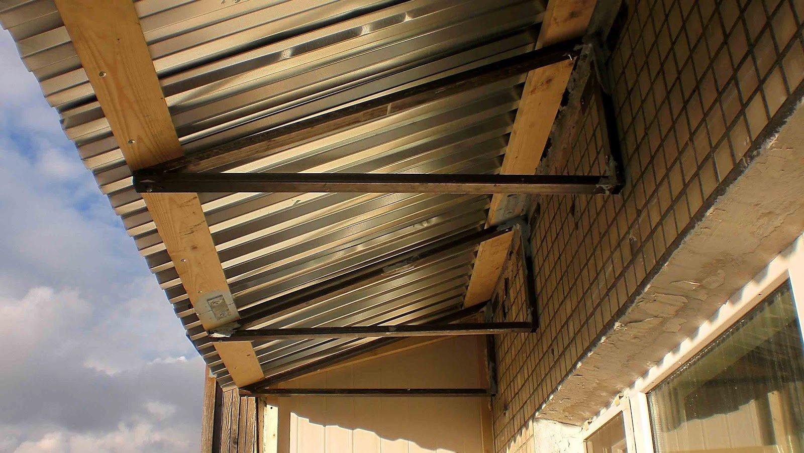 Обшить крышу балкон своими руками 5